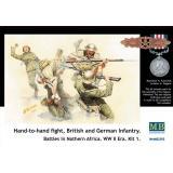 Солдаты британской и немецкой пехоты в рукопашном бою (MB3592) Масштаб:  1:35