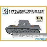 Танк Pz.Kpfw.I Ausf.A, раннее производство (2 модели в наборе) (SMOD-PS720090) Масштаб:  1:72
