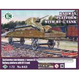 Железнодорожная платформа с танком БТ - 5 (UMT643) Масштаб:  1:72