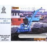 Железнодорожный кран RK-3 Bleichert (ZZ-T87001) Масштаб:  1:87