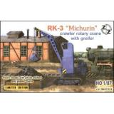 ZZ87024 PK-3 Michurin crawler rotary crane with greifer (ZZ87024) Масштаб:  1:87