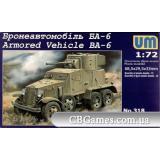 Бронеавтомобиль БА-6 (UM318) Масштаб:  1:72