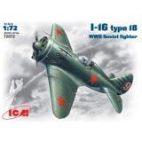 ICM72072  Polikarpov I-16 type 18 WWII fighter