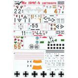 Декаль для истребителя Me 109 F4 (PRS72-049) Масштаб:  1:72