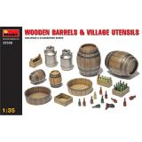 MA35550  Wooden barrels & village utensils