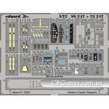 Фототравление 1/72 He-111H-6 (цветная, рекомендовано для Hasegawa) (EDU-SS247) Масштаб:  1:72