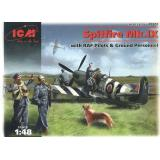 ICM48801  Spitfire Mk.IX with RAF pilots & ground personnel
