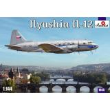 Модель пассажирского самолета Ил-12 (AMO1445) Масштаб:  1:144