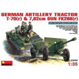 MA35039  German artillery tractor T-70(r) with 7,62cm FK 288(r)