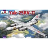 Пластиковая модель истребителя-перехватчика Як-25РВ-II (AMO72212) Масштаб:  1:72