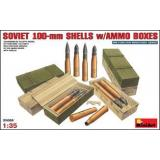 MA35088  Soviet 100-mm shells with ammo boxes