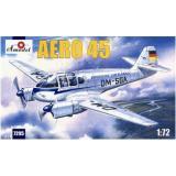 Aero 45 Легкий многоцелевой самолет Чехословакии (AMO7295) Масштаб:  1:72