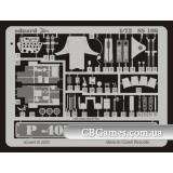 Фототравление 1/72 P-40N Вархок (рекомендовано для Hasegawa) (EDU-SS186) Масштаб:  1:72