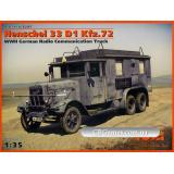 ICM35467  Henschel 33 D1 Kfz.72 WWII German radio communication truck