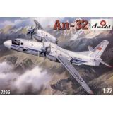 Многоцелевой транспортный самолет Ан-32 (AMO7296) Масштаб:  1:72