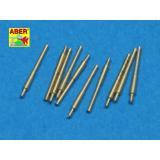 Набор из 10 шт 203 мм стволов для японских судов: Атаго, Кумано, Меко (ABR700-L27) Масштаб:  1:700