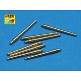 Набор из 8 шт 356 мм (14 дюймов)  стволов типа L45 Викерс 41 для Kongo, Haruna, Hiei, Kirishim (ABR700-L28) Масштаб:  1:700