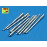Набор из 8 шт 380 мм длинных стволов для судов Richeulieu, Jean Bart (ABR350-L38) Масштаб:  1:350
