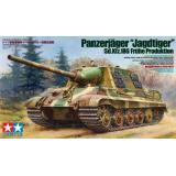 Немецкая тяжелая САУ Jagdtiger с фототравленной решеткой и 2мя типами гусениц (TAM35295) Масштаб:  1:35