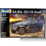 Полугусеничный бронетранспортер Sd.Kfz. 251/16 Ausf C (RV03197) Масштаб:  1:72