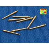 Set of 8 pcs 381 mm short barrels for ship Hood (ABR700-L09) Масштаб:  1:700