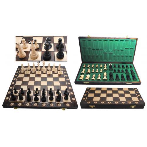 Шахматы 1008 CONSUL коричневые 48x24x5 см (король-95мм)