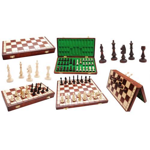 Шахматы 1090 VENUS коричневые 49x24,5x4,8см (король 108мм)