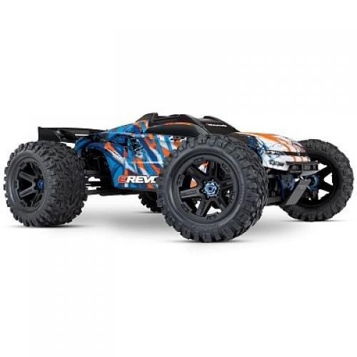Автомобиль Traxxas E-Revo Brushless Monster 1:10 RTR 585 мм 4WD TSM 2,4 ГГц (86086-4 Orange)