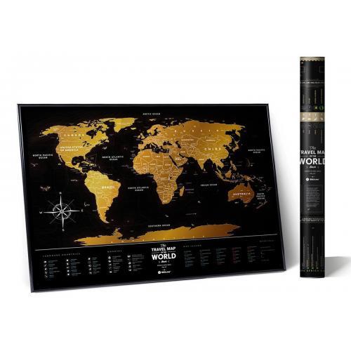 Скретч Карта Мира My Map Black edition