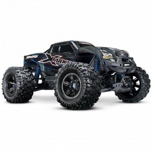 Автомобиль Traxxas X-Maxx Brushless Monster 8S 1:5 RTR 779 мм 4WD TSM 2,4 ГГц (77086-4 Blue)