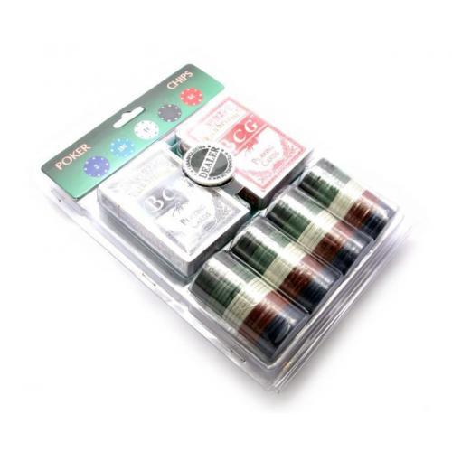 Покерный набор (2 колоды карт,сукно,200 фишек) (200T)(23,5х18х4,5 см), арт.23901