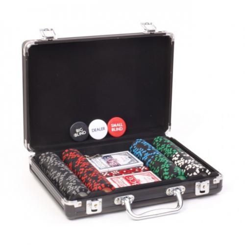 Покерный набор Poker VIP 200 фишек, номинал 1-100, 11,5гр. (арт. PS-295)