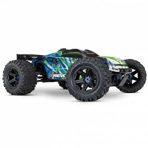 Автомобиль Traxxas E-Revo Brushless Monster 1:10 RTR 585 мм 4WD TSM 2,4 ГГц (86086-4 Green)