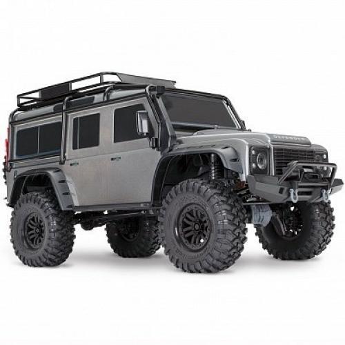 Автомобиль Traxxas TRX-4 Land Rover Defender 1:10 RTR 586 мм 4WD 2,4 ГГц (82056-4 Silver)