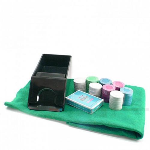 Покерный набор 200 фишек, 1 колода карт, без номинала, 4гр, (арт BJ2200)