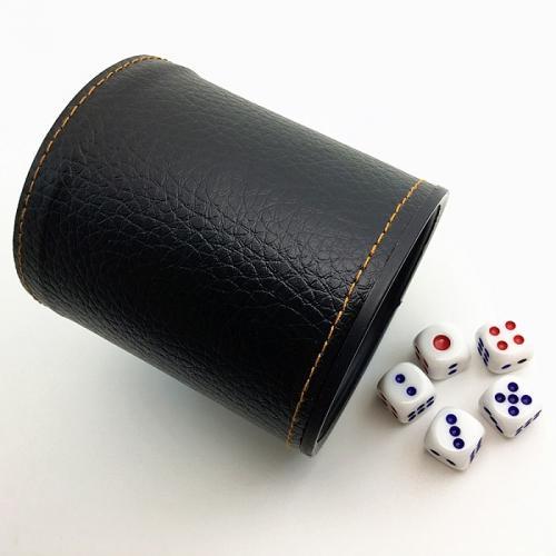 Стакан для кубиков чёрный  + ПОДАРОК