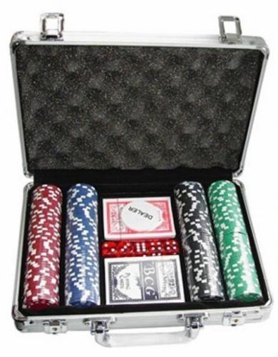 Покерный набор в алюминиевом кейсе на 200 фишек, без номинала, 11,5гр.