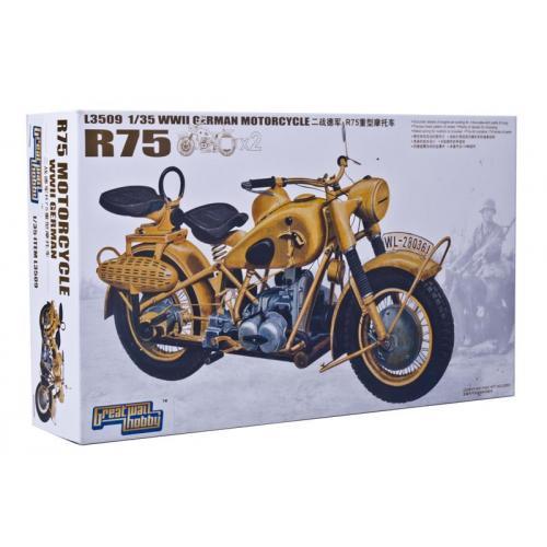 Мотоцикл BMW R75 (2 мотоцикла) (GWH-L3509) Масштаб:  1:35