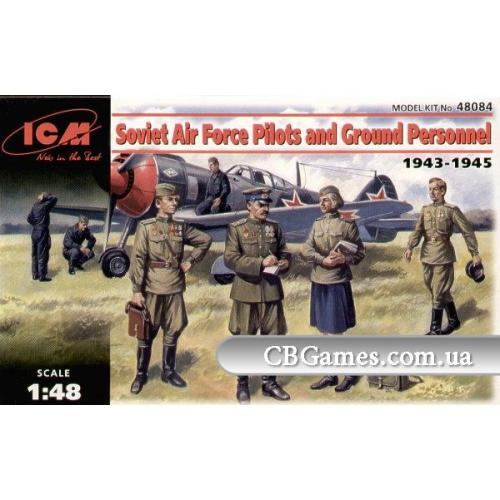 ICM48084  WWII Soviet Pilots and Technics,1943-45