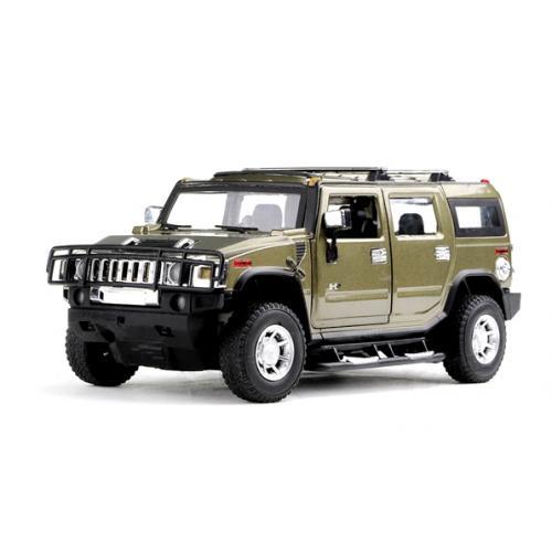 Машинка р/у 1:24 Meizhi лиценз. Hummer H2 металлическая (темно-зеленый) (MZ-25020Ag)