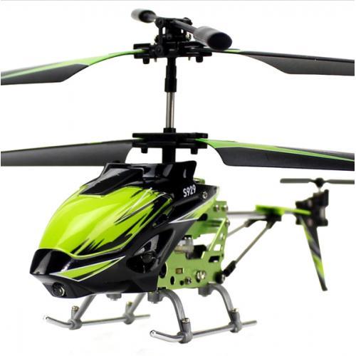 Вертолёт 3-к микро и/к WL Toys S929 с автопилотом (зеленый) (WL-S929g)