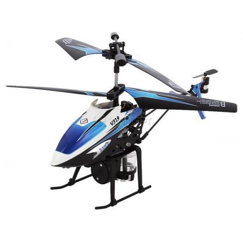 Вертолёт 3-к микро и/к WL Toys V319 SPRAY водяная пушка (синий) (WL-V319b)