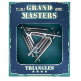Grand Master Puzzles TRIANGLES blue | Головоломка металлическая