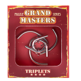 Grand Master Puzzles TRIPLETS red | Головоломка металлическая