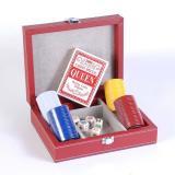 Покерный набор в кожаном кейсе на 80 фишек, без номинала, 4гр. (арт CCT00813)