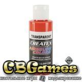 Краска для аэрографии Createx Colors - Transparent 5118 - Transparent Sunset Red, 60 мл