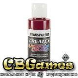 Краска для аэрографии Createx Colors - Transparent 5124 - Transparent Deep Red, 60 мл