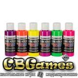 Набор красок для аэрографии Createx Colors Fluorescent Set