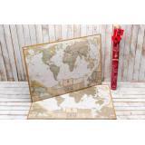 Скретч карта мира My Map Antique edition ENG в наборе для любимого человека In Love