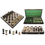 Шахматы 3136 KINGS инкрус. мед. пров., корич. 49x24,5x6,5см (король-100мм)